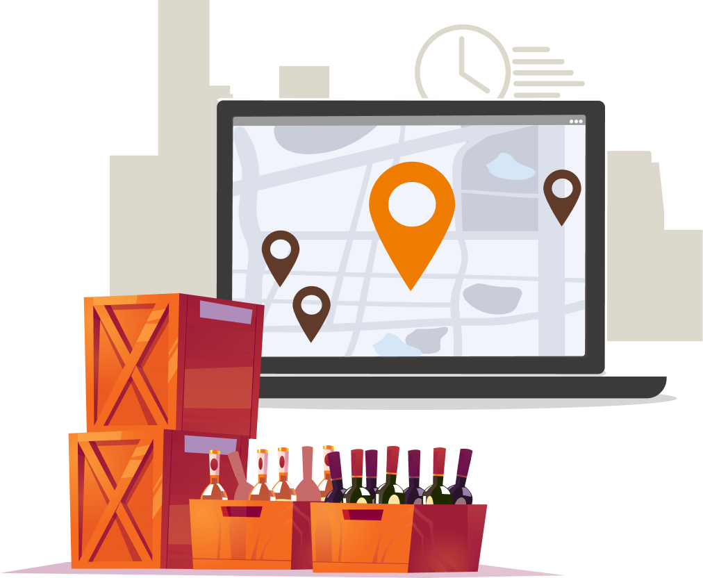 Spirits and wine delivery software