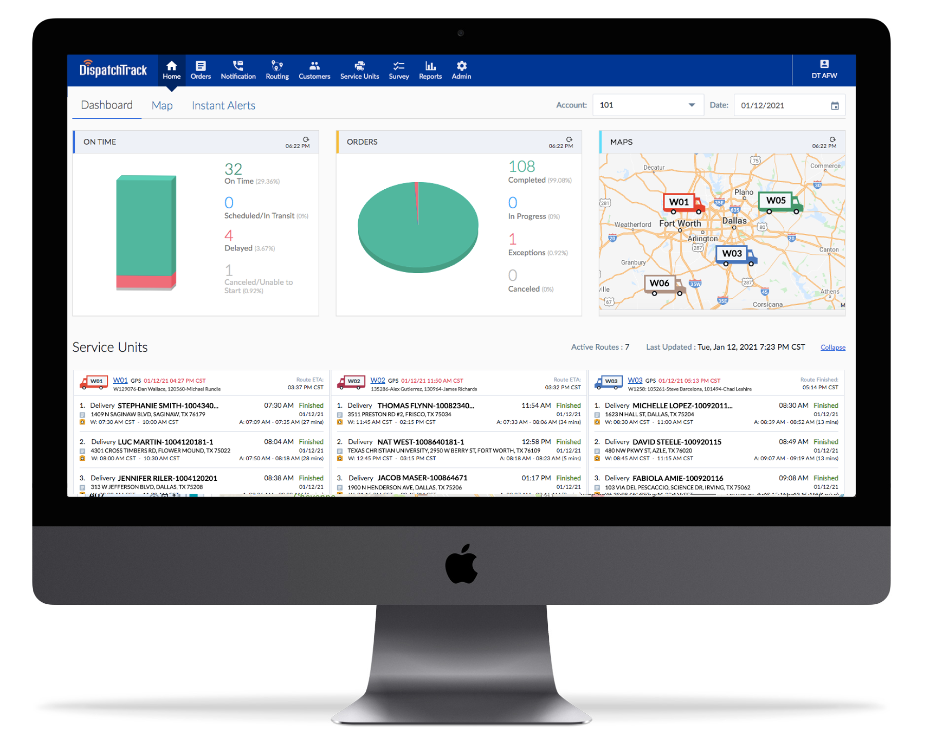 DispatchTrack features and capabilities
